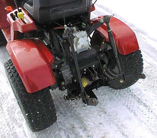 Garden Tractor 3pt Hitch : Honda h garden tractor