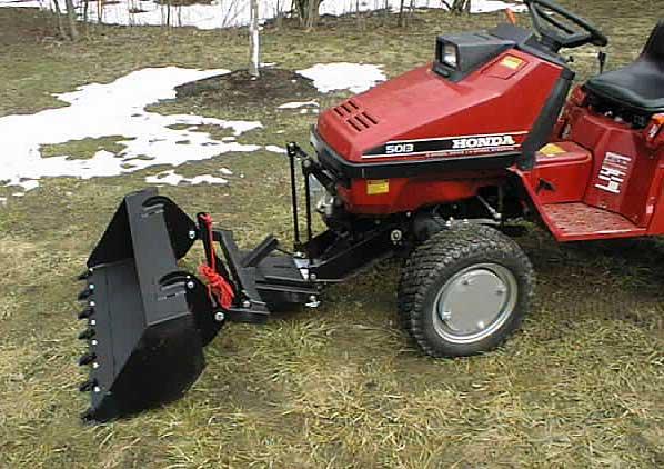 Smallest Garden Tractor With Bucket : Honda h garden tractor