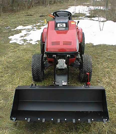 Lawn Tractor Rear End : Honda h garden tractor